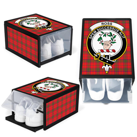 Ross Modern Clan Crest Tartan Scottish Shoe Organizers K9