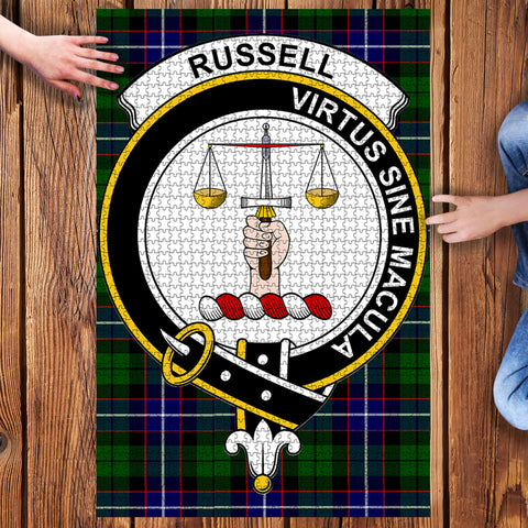 Image of Tartan Puzzle - Russell Clan Tartan Jigsaw Puzzle - BN