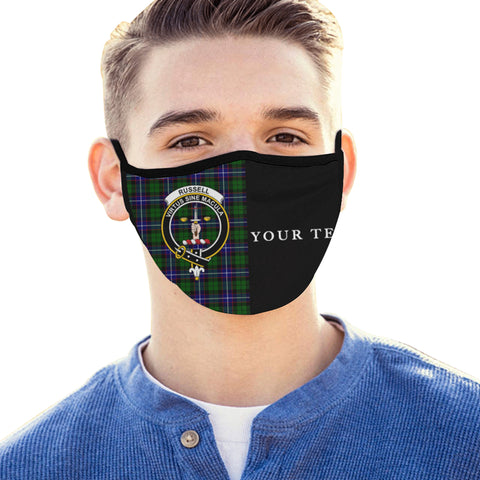 Russell Modern Tartan Mouth Mask The Half (Custom) Th88
