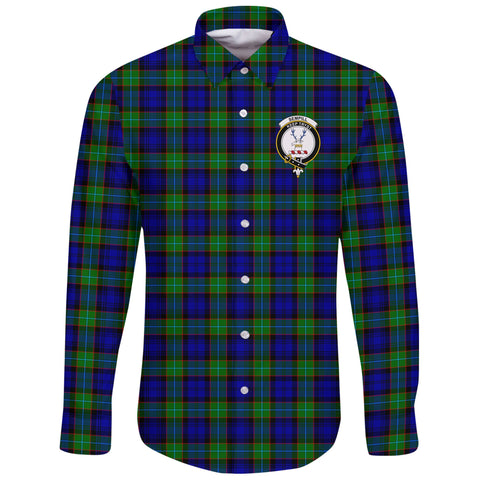 Sempill Modern Tartan Clan Long Sleeve Button Shirt | Scottish Clan