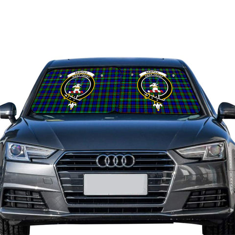 Sempill Modern Clan Crest Tartan Scotland Car Sun Shade 2pcs