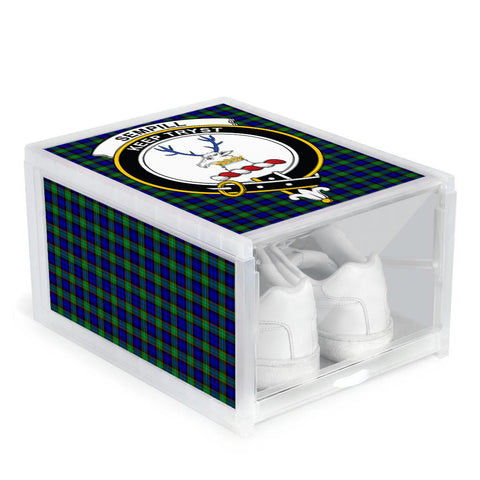 Image of Sempill Modern Clan Crest Tartan Scottish Shoe Organizers