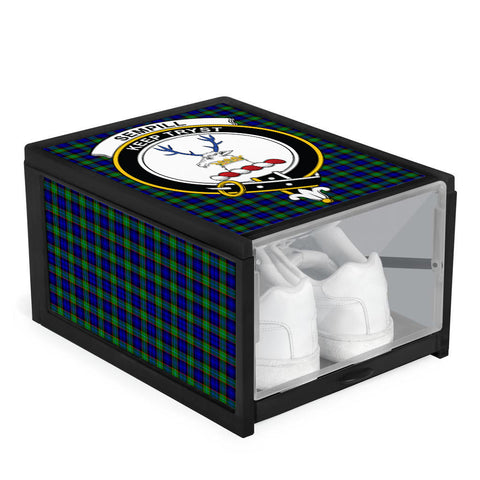 Image of Sempill Modern Clan Crest Tartan Scottish Shoe Organizers K9