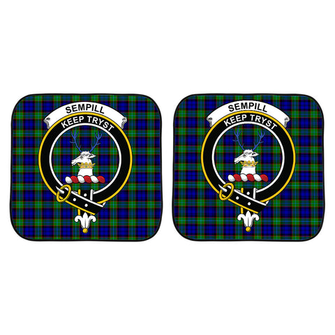 Image of Sempill Modern Clan Crest Tartan Scotland Car Sun Shade 2pcs K7