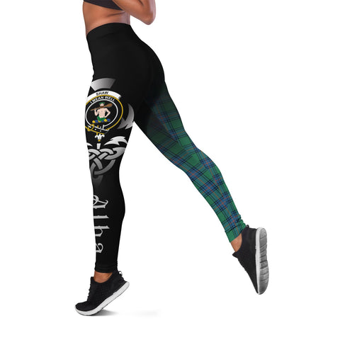 Shaw Ancient Crest Tartan Alba Celtic Leggings | Over 500 Tartans | Special Custom Design