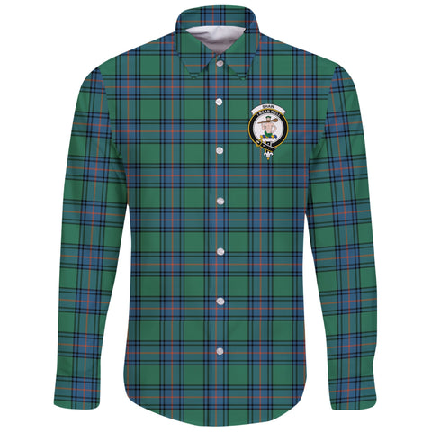 Shaw Ancient Tartan Clan Long Sleeve Button Shirt | Scottish Clan