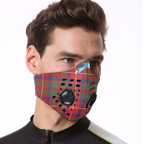 Shaw Red Modern Tartan Dust-proof Sports Masks ( Model 1) - TH88 (USA Shipping Line)
