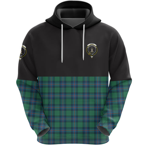 Shaw Ancient Clan Hoodie Half Of Tartan
