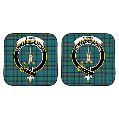 Shaw Ancient Clan Crest Tartan Scotland Car Sun Shade 2pcs K7
