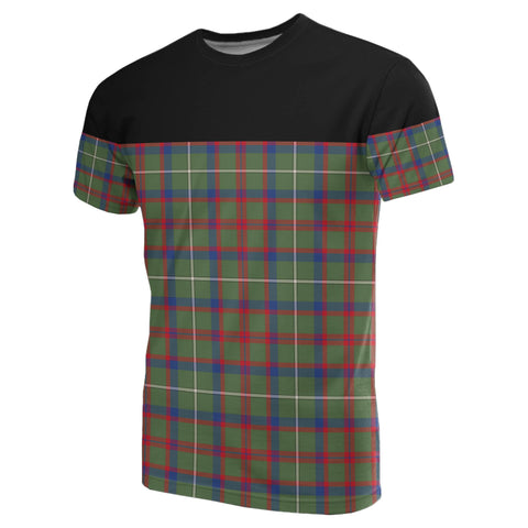 Image of Tartan Horizontal T-Shirt - Shaw Green Modern