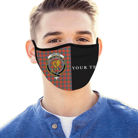 Image of Sinclair Ancient Tartan Mouth Mask The Half (Custom) Th88