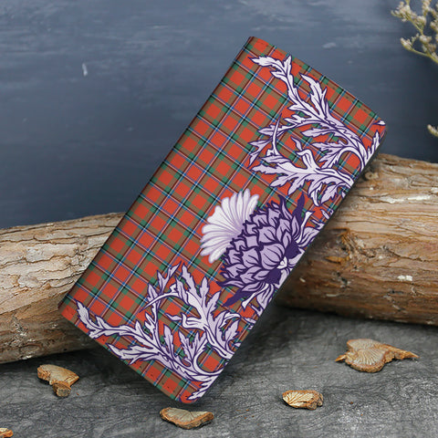 Sinclair Ancient Tartan Wallet Women's Leather Thistle A91