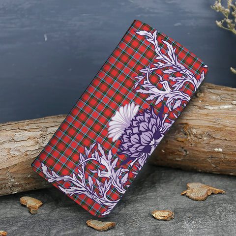 Image of Sinclair Modern Tartan Wallet Women's Leather Thistle A91
