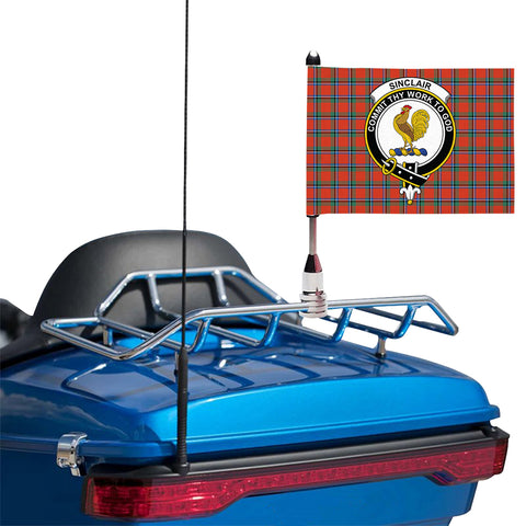 Sinclair Ancient Clan Crest Tartan Motorcycle Flag