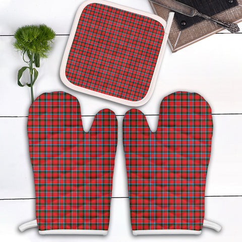 Image of Sinclair Modern Clan Tartan Scotland Oven Mitt And Pot-Holder (Set Of Two)