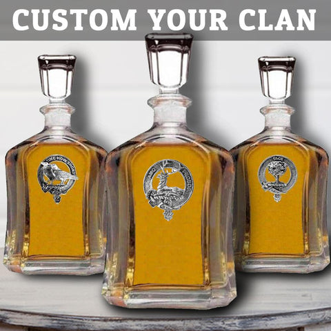 (Custom Scottish Clans) Clan Crest Badge Skye Decanter