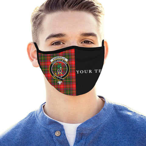 Image of Somerville Modern Tartan Mouth Mask The Half (Custom) Th88