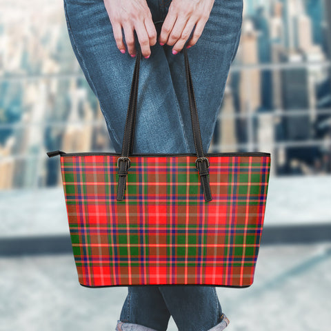 Somerville Modern Tartan Leather Tote Bag (Large) | Over 500 Tartans | Special Custom Design