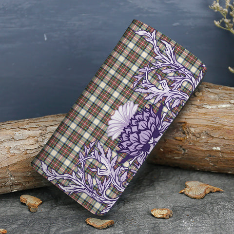 Image of Stewart Dress Ancient Tartan Wallet Women's Leather Thistle A91