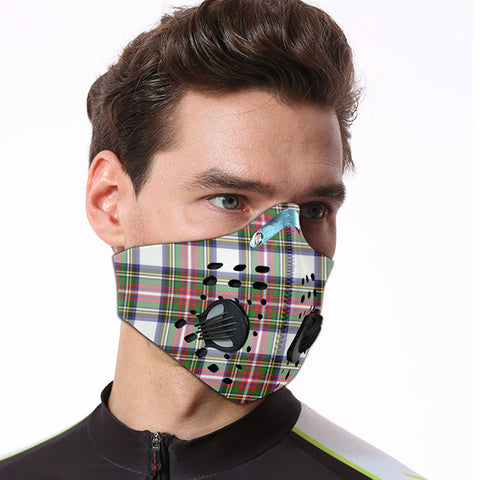 Stewart Dress Modern Tartan Dust-proof Sports Masks ( Model 1) - TH88 (USA Shipping Line)