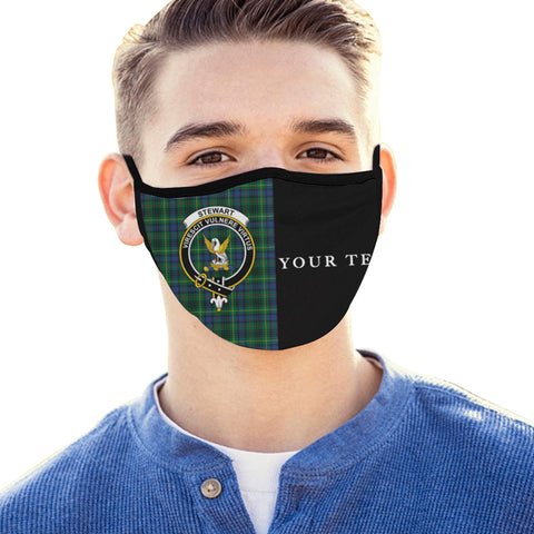 Image of Stewart Hunting Modern Tartan Mouth Mask The Half (Custom) Th88