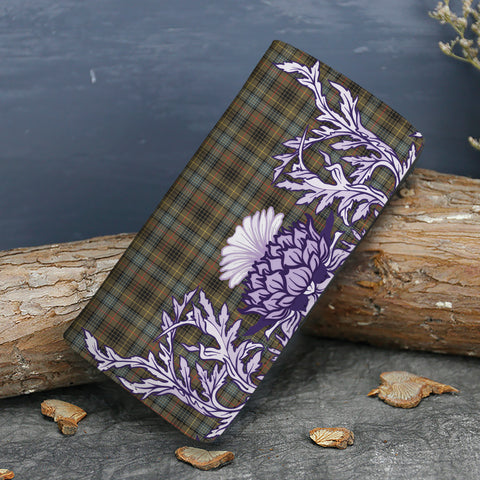 Stewart Hunting Weathered Tartan Wallet Women's Leather Thistle A91