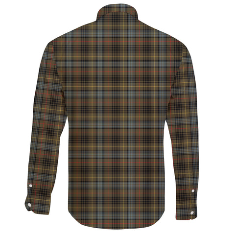 Stewart Hunting Weathered Tartan Clan Long Sleeve Button Shirt A91
