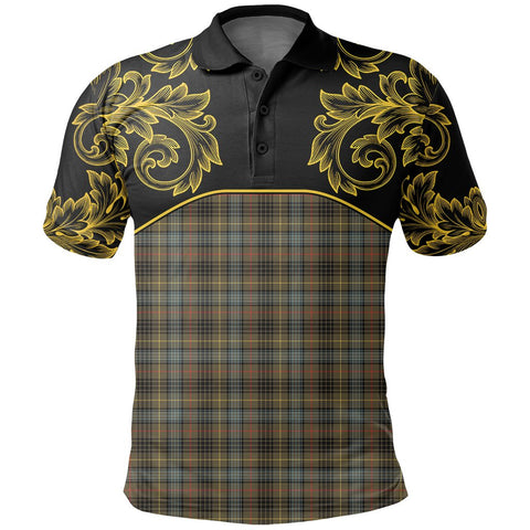 Stewart Hunting Weathered Tartan Clan Crest Polo Shirt - Empire I - HJT4 - Scottish Clans Store - Tartan Clans Clothing - Scottish Tartan Shopping - Clans Crest - Shopping In scottishclans - Polo Shirt For You