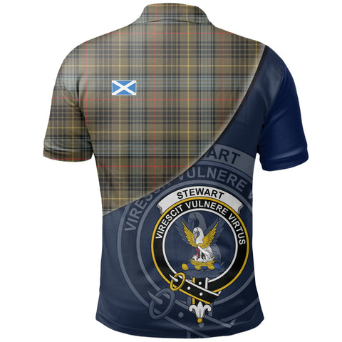 Stewart Hunting Weathered Polo Shirts Tartan Crest A30