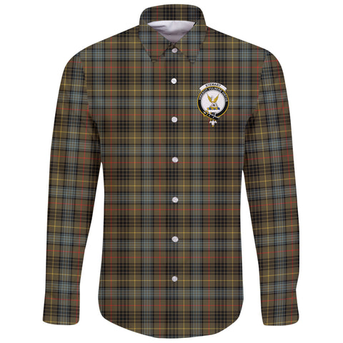 Stewart Hunting Weathered Tartan Clan Long Sleeve Button Shirt | Scottish Clan