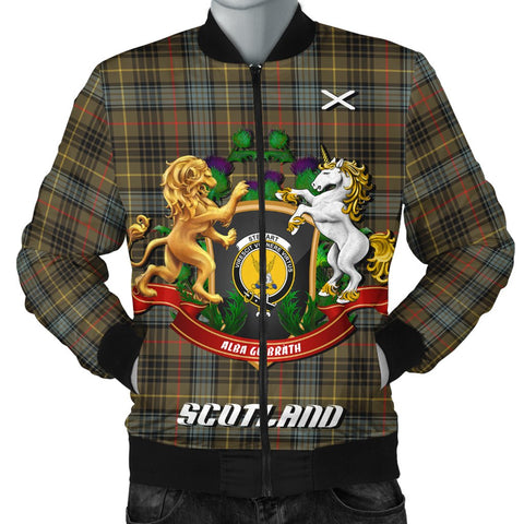 Stewart Hunting Weathered | Tartan Bomber Jacket | Scottish Jacket | Scotland Clothing