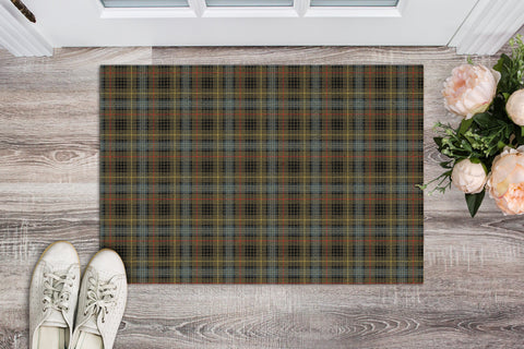 Stewart Hunting Weathered Tartan Carpets Front Door A91