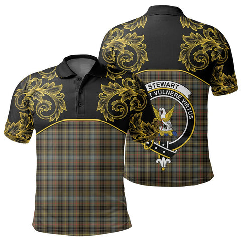 Stewart Hunting Weathered Tartan Clan Crest Polo Shirt - Empire I - HJT4