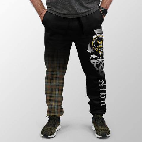 Image of Stewart Hunting Weathered Crest Tartan Alba Celtic Jogger A30