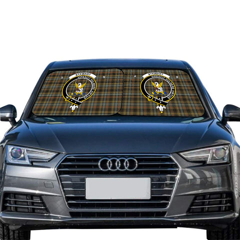 Stewart Hunting Weathered Clan Crest Tartan Scotland Car Sun Shade 2pcs