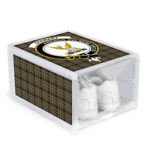 Stewart Hunting Weathered Clan Crest Tartan Scottish Shoe Organizers