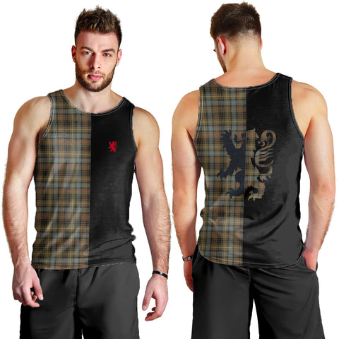 Stewart Hunting Weathered Clan Tank Top Lion Rampant
