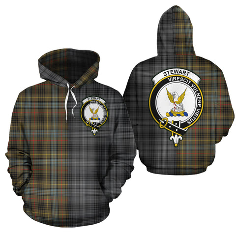 Stewart Hunting Weathered Clan Half Of Me New Version Crest Tartan Hoodie