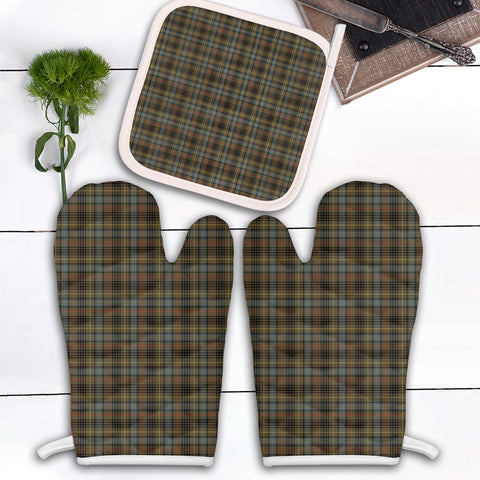Stewart Hunting Weathered Clan Tartan Scotland Oven Mitt And Pot-Holder (Set Of Two)