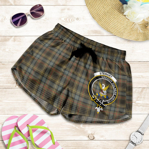 Stewart Hunting Weathered crest Tartan Shorts For Women