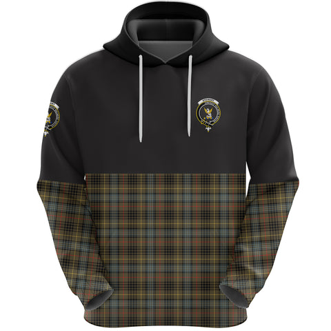 Stewart Hunting Weathered Clan Hoodie Half Of Tartan