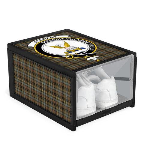 Stewart Hunting Weathered Clan Crest Tartan Scottish Shoe Organizers K9