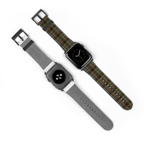 Stewart Hunting Weathered Scottish Clan Tartan Watch Band Apple Watch