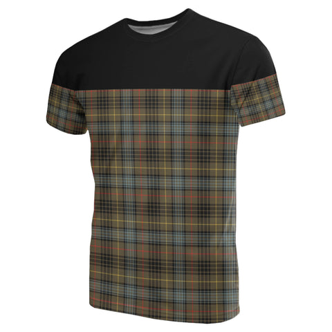 Tartan Horizontal T-Shirt - Stewart Hunting Weathered