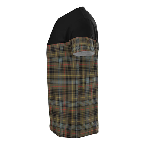 Tartan Horizontal T-Shirt - Stewart Hunting Weathered - BN