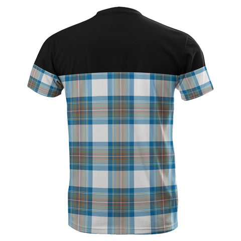 Tartan Horizontal T-Shirt - Stewart Muted Blue - BN