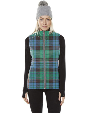 Image of Stewart Old Ancient Tartan Puffer Vest for Men and Women K7