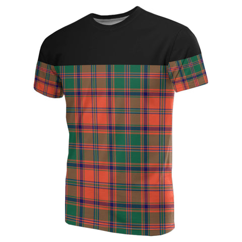 Tartan Horizontal T-Shirt - Stewart Of Appin Ancient
