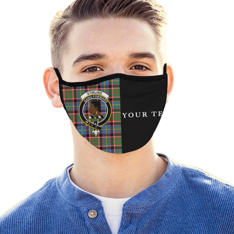 Stirling & Bannockburn District Tartan Mouth Mask The Half (Custom) Th88