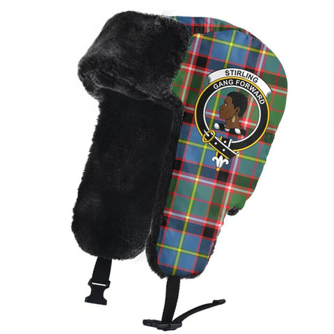 Stirling & Bannockburn District Clan Crest Tartan Trapper Hat